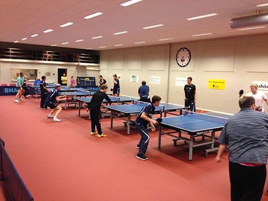 INNSATS: Mange av spillerne er med på nesten hver trening.