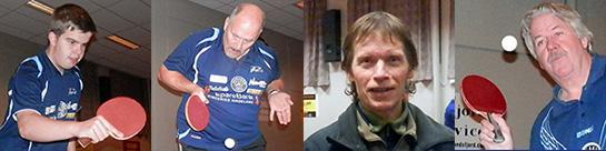 SPILLERNE: Thomas Moen, Rune Larsson, Bjørn Erik Wibe og Erik Støa var med på helgens kamper.