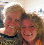 FORELDRE: Kari G. Nygård og Pia-Helen Fagerslett sprudlet gjennom KM-helgen.