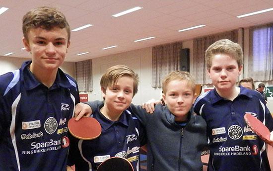 NYBEGYNNERE: Håvard Nygård (fra venstre), Jonas Jensen, Edward Andresen og Daniel F. Grefsrud.