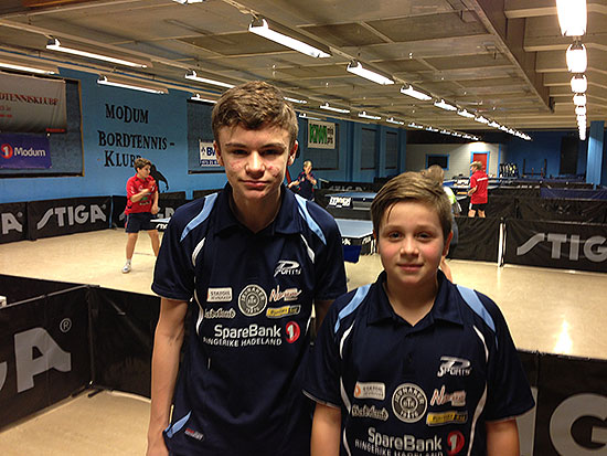 FLINKE GUTTER: Håvard Nygård vand B-sluttspillet i Gutter 15 og Jonas Jensen nådde kvartfinalen i dagens største klasse: Gutter 13.