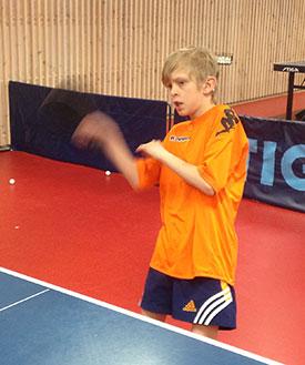 PÅ SAMLING: Eivind i aksjon under helgens treningssamling. (FOTO: PER G. NYGÅRD)