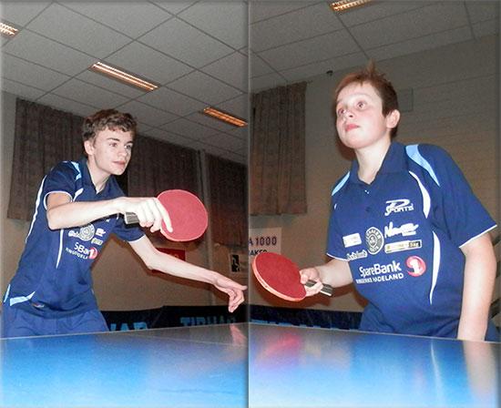 UNGE UTFORDRERE: Håvard Nygård og Jonas Jensen er blitt veldig mye bedre enn da sesongen startet. Begge har klatret på rankinglistene.