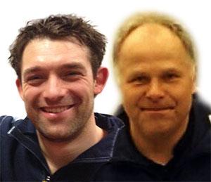 BRONSEDUO: Leon Den Ouden og Anton Hoel overrasket med bronse i Herrer double 35.