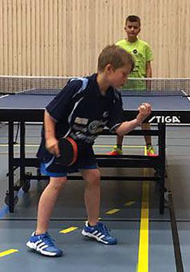 UNG DEBUTANT: Martin Jensen i aksjon på åtteårsdagen sin. Grattis med dagen og innsatsen, Martin!