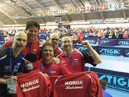 HADELANDSLAGET: Joe Amundsen (fra venstre), Thomas Gulbrandsen, Stig Amundsen, Bendik Alme og Thomas Møller.
