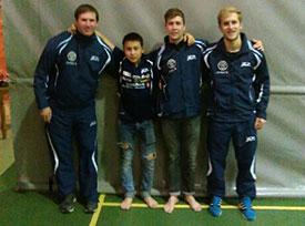 JBTK: Terje Herting, Tim Cornelius, Anders Eriksson og Petros Siapkaras sto bak sesongens første seier i eliteserien.