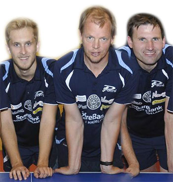 TRIO PÅ TUR: Petros (f.v.) presterte til godkjent, mens Olof og Terje var skuffet over å misse sluttspilldeltakelse.