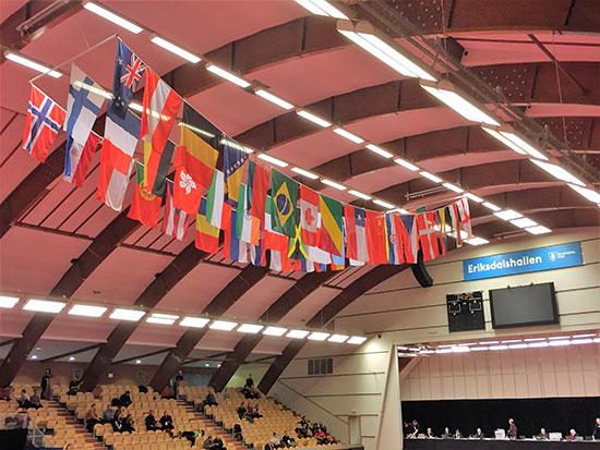 INTERNASJONALT: Ingen andre idretter har flere medlemsland enn bordtennis. Mange av dem var representert i SOC.