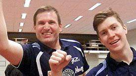 I TOPPEN: Terje og Anders henger med i toppen av tabellen med sine svenske klubber.