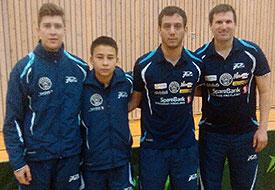 VINERLAGET: Anders Eriksson (f.v.), Tim Cornelus, Pedro Lopez og Terje Herting leverte i Mode lørdag.