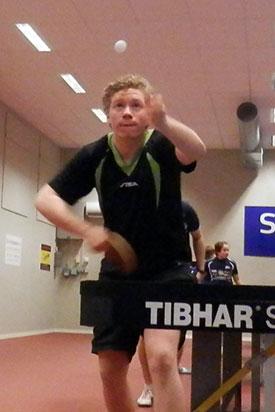 JBTK-VENN: Jonas Flåøien var femterangert og ble nr. 4. Men tapte 2-3 mot hele trioen foran seg...