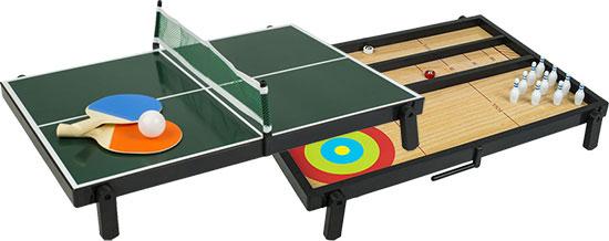 PLASSERINGSPREMIENE: De fem beste får hvert sitt multispillbord, som kan brukes til bordtennis, biljard, curling og shuffleboard.