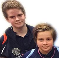FAVORITTER: Daniel og Jonas forventes å kjempe om gullet i rekruttklassen.