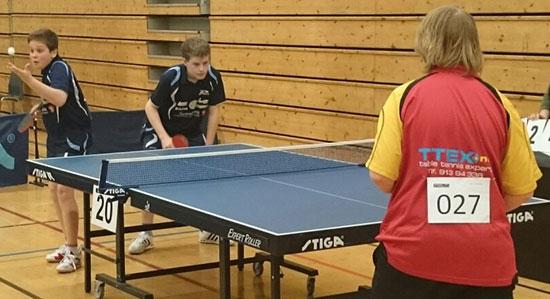 ACTION: Jonas og Daniel i aksjon i G15 double. (Foto: Lene Jensen)