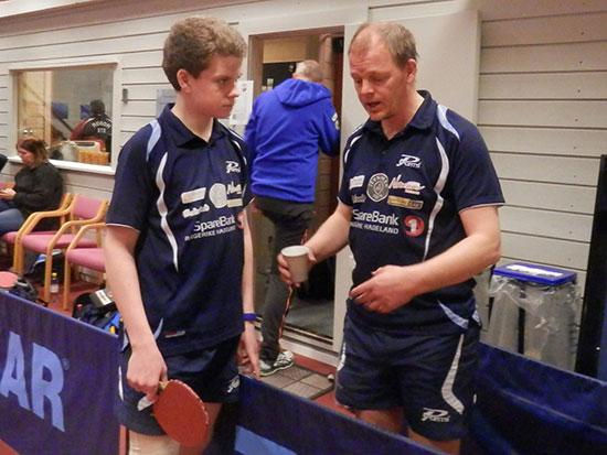 POENGVINNERE:  Daniel F. Grefsrud (t.v.) og Olof Götestam sikret seg mange rankingpoeng.