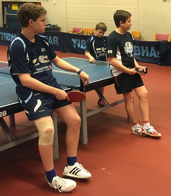 TROFAST TRIO: Daniel F. Grefsrud, Martin Jensen og Jonas Jensen har lært mye i ungdomsgruppen gjennom sesongen.