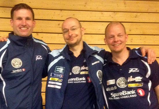 BRONSELAGET: Terje Herting (f.v.), Trond Nagy og Olof Götestam tok en flott 3. plass i NM.