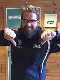 LIKE BLID: Leif Jensen tok sine nederlag med fatning og humør. (Foto: Lene Jensen).
