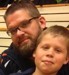NEWBIES: Leif og Martin fikk masse ny kamperfaring i dag og slo godt fra seg. (Foto: Lene Jensen)