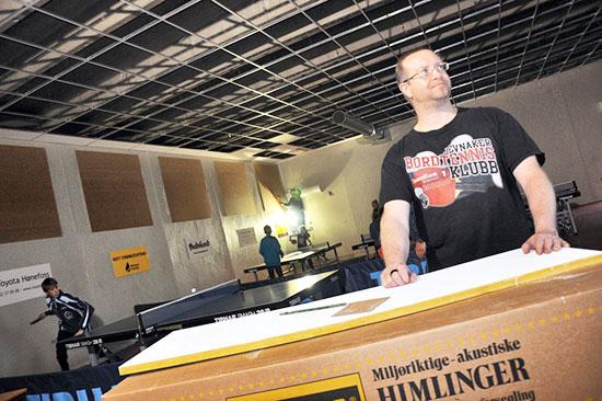2013: Mørk hall under takarbeidet for tre år siden. (Foto: Avisen Hadeland)