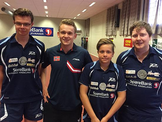 MARCO & CO: Fredrik Wilkens (fra venstre), Marcus Wærstad, Jonas Jensen og Lars Torp.