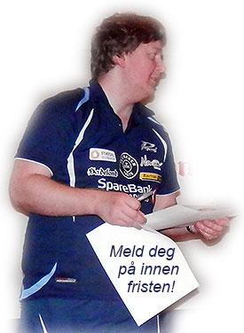 SJEFEN: Lars Torp er ansvarlig for at alle i JBTK som ønsker å delta blir meldt på innen fristen, men det er ditt ansvar å melde deg på til Lars i god tid før påmeldingsfristen utløper!
