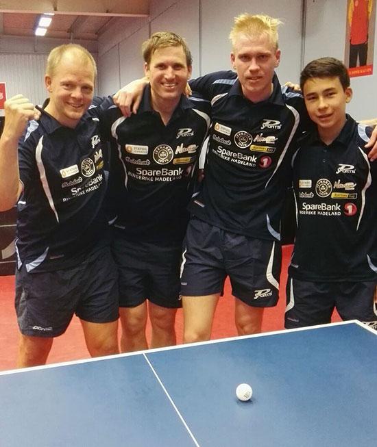 JBTK-LAGET: Olof Götestam (f.v.), Terje Herting, Adam Jakobsson og Tim Cornelius.
