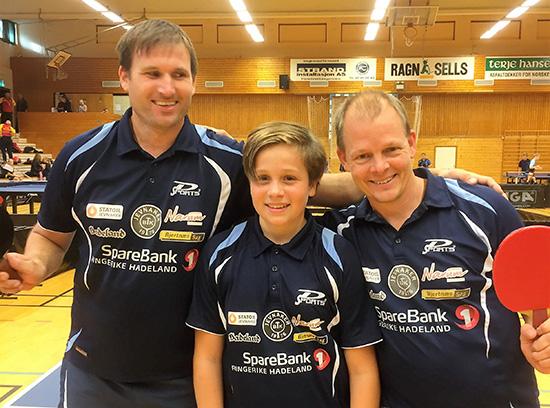 BLID TRIO: Terje Herting, Jonas Jensen og Olof Götestam i godt humør selv om resultatene ikke var så mye å skryte av. (Foto: Lene Jensen).
