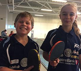 GLADE SLEKTNINGER: Martin og Kaja Jensen imponerte i nybegynnerklassen.