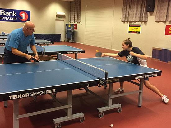 TYVSTART: Bengt og Jonas trente sammen i en time før kursstart.