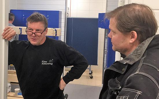 PLANLEGGING: Terje Bjørn Sørum og Pål Syse diskuterer seg fram til gode løsninger.