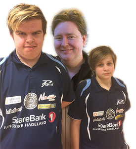 D-GJENGEN: Thomas, Lars og Jonas slo seg til sluttspillet i Herrer D. (Foto: Lene Jensen)