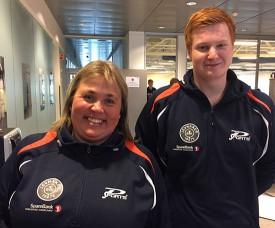 LEDERDUO: Lene og Kenneth leder JBTK-troppen på Fornebu i dag.