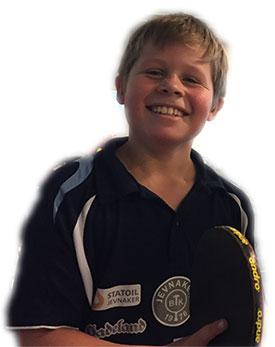 MESTER: Martin Jensen er tittelforsvarer i 9-årsklassen.