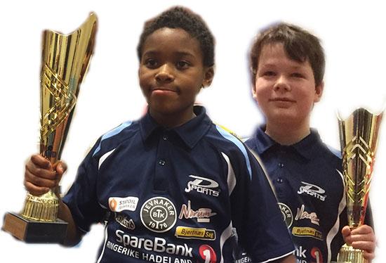 SUPERNUBS: Daniel Miancho og Amund Fredriksen overrasket og imponerte i sine KM-debuter. Begge vant gull!!!
