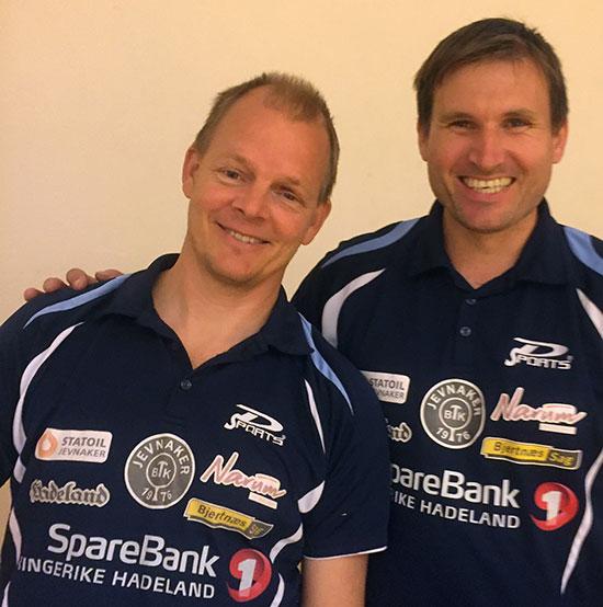 LOKALE VETERANER: Olof Götestam og Terje Herting spiller om eliteseriepoeng for JBTK.