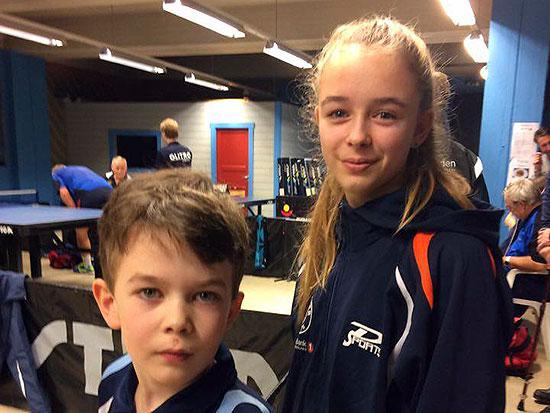 SUPERSØSKEN: Erik og Kaja Jensen utviste imponerende tålmodighet gjennom den lange dagen og vant hver sin kamp!