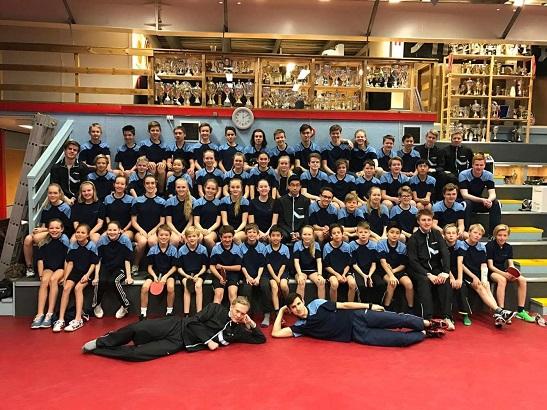 SAMLING: 60 spillere fra hele østlandet deltok på den forrige treningssamlingen i B-72s bordtennishall.