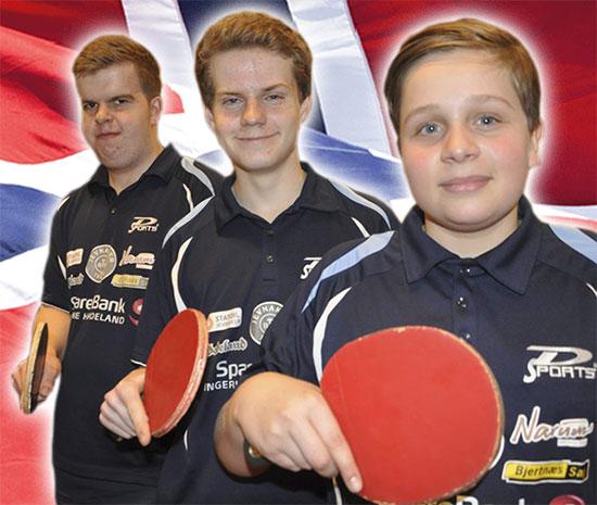 PÅ LAG: Thomas, Daniel og Jonas deltar i junior-NM i Oslo i pinsen. (Foto: Rune Pedersen)
