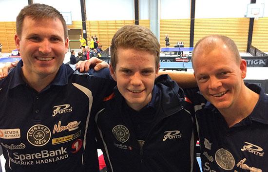 DELTAKERE: Terje Herting, Daniel F. Grefsrud og Olof Götestam er tre av 16 påmeldte JBTK-utøvere til årets regionsmesterskap.