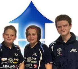 OPPTUR: Kevin Svendsbråten (f.v.), Jonas Jensen og Daniel F. Grefsrud fører an i kampen om å bli sesongens JBTK-rankingklatrer.