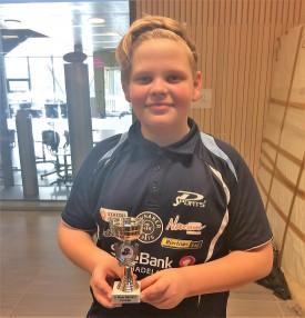 TREFFSIKKER: Kevin Svendsbråten er fortsatt en bedre skytter enn bordtennisspiller, men i dag var han JBTK-spuilleren som imponerte mest i regionsmesterskapet på Fornebu.