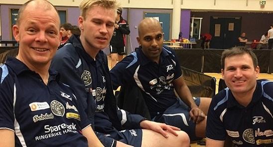 PÅ'N IGJEN: Olof, Adam, Marcus og Terje gyver løs på en ny sesong; i 1. divisjon. (Foto: Tor Hallaråker)