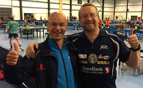 TIDLIGERE KOLLEGER: Andreas Johansson er den beste som noensinne har spilt for Jevnaker BTK. Her sammen med Thomas Møller, som også var med i JBTKs eliteserietropp sesongen 2003/04.