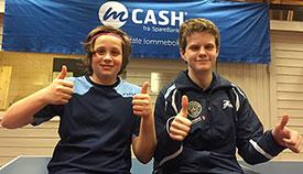 PÅ PALLEN: Jonas Jensen og Daniel Fagerslett Grefsrud kan også vise til solide poengmessige framganger.