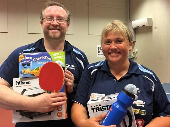 SJEFSDUO: Thomas og Lene vant hver sin førstepremie i kveld. (Foto: Mona Fegri)