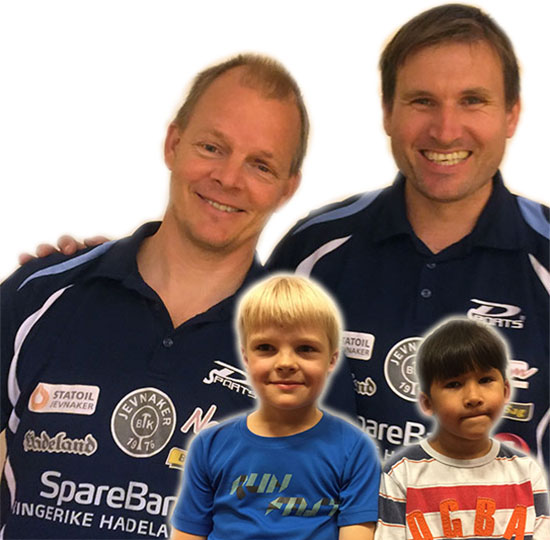 SOM FAR SÅ SØNN: Olof Götestam og Terje Herting deltar for aller første gang sammen med sine sønner; Noah og Tony.